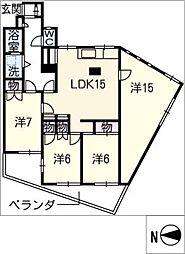 サウスタウン上飯田[1階]の間取り