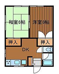 コーポフォレスト[2階]の間取り