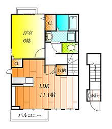 セレノ アロッジオ II[2階]の間取り