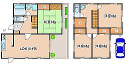 [一戸建] 兵庫県神戸市西区学園東町6丁目 の賃貸【/】の間取り
