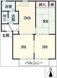 ディアスヒロII[2階]の間取り