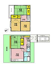 [一戸建] 東京都立川市砂川町3丁目 の賃貸【/】の間取り