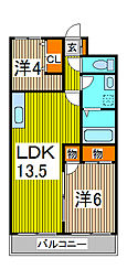 ウッドサイド浦和[3階]の間取り