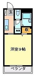 徳島県徳島市佐古二番町の賃貸マンションの間取り