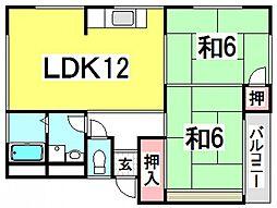 第2ビューハイツ[1階]の間取り