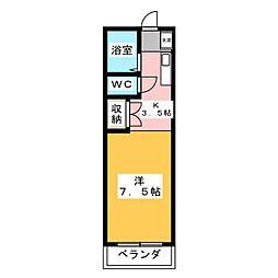 となりの花きゃべつ[4階]の間取り