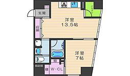 W.O.B.NISHIUMEDA[9階]の間取り