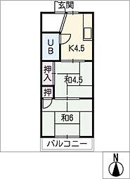 日吉荘[2階]の間取り