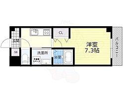 阪急宝塚本線 石橋阪大前駅 徒歩5分の賃貸マンション 1階1Kの間取り