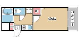 兵庫県神戸市中央区坂口通1丁目の賃貸マンションの間取り