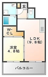 ノルデンハイム江坂アネックス[12階]の間取り