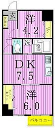 サンクレール青井[4階]の間取り