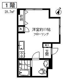 東京都目黒区鷹番3丁目の賃貸マンションの間取り