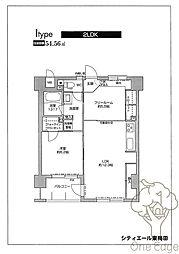 シティエール東梅田I[4階]の間取り