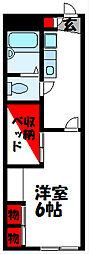 JR筑豊本線 新飯塚駅 徒歩36分の賃貸アパート 1階1Kの間取り