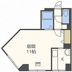 北海道札幌市中央区南三条東1丁目の賃貸マンションの間取り