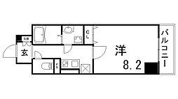 ボンニー元町[7階]の間取り