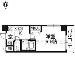 プレサンス京都烏丸御池606[6階]の間取り