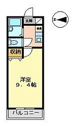 マンション大洋2[B-3号室 号室]の間取り
