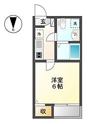 愛知県名古屋市熱田区切戸町3の賃貸アパートの間取り