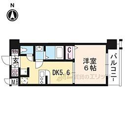 エステムコート京都西大路408 4階1DKの間取り