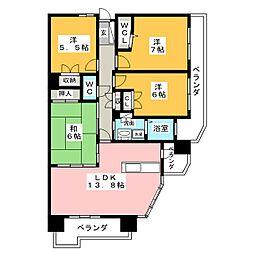 ライオンズステーションプラザ瑞穂運動場東[12階]の間取り