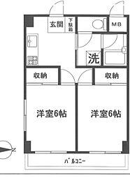 栄広クリアシティ第2[405号室]の間取り