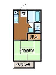 ファミーユ柿生[1階]の間取り