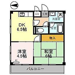 ラ・シャンブル福田2号館[2階]の間取り
