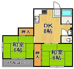 マンションタケダ[3階]の間取り