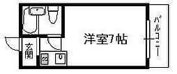 グローバルハイツ鶴橋[3階]の間取り