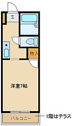 兵庫県尼崎市神田北通6丁目の賃貸アパートの間取り