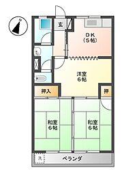 光栄マンション[4階]の間取り