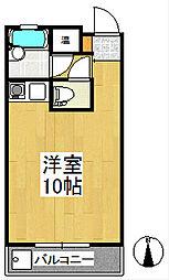 ハミング櫛原[3階]の間取り