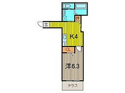 マンション鷹の巣 D棟[102号室]の間取り