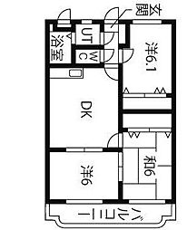 ユーミートレゾール[2階]の間取り
