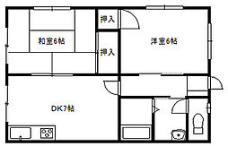 戸川ビル[2階]の間取り