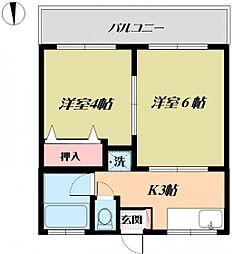 ヤマブンコーポ[101号室号室]の間取り