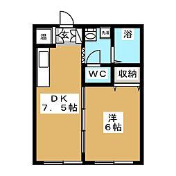 コーポエイト[2階]の間取り