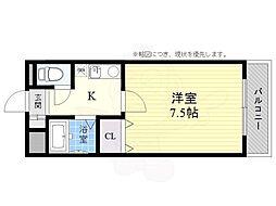 エストマンション 2階1Kの間取り