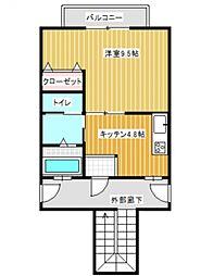 醍醐藤田マンション[302号室号室]の間取り