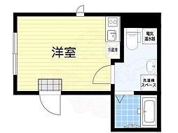 グランドセントラル日本橋茅場町 4階ワンルームの間取り
