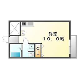 香川県高松市中野町の賃貸マンションの間取り