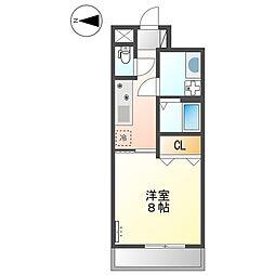 (仮称)大阪狭山市半田5丁目新築マンション 2階1Kの間取り