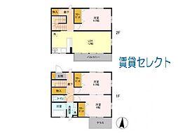 [テラスハウス] 千葉県松戸市三ケ月 の賃貸【/】の間取り