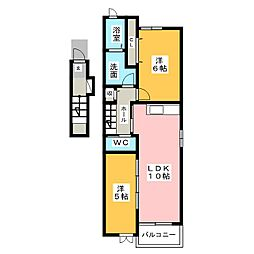 ベルクラント I II[2階]の間取り