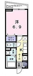 [テラスハウス] 大阪府大阪市西成区天神ノ森1丁目 の賃貸【/】の間取り