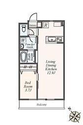 (仮称)都筑区池辺町アパート[1階]の間取り