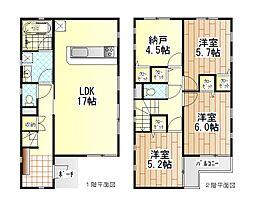 [一戸建] 神奈川県相模原市中央区淵野辺本町4丁目 の賃貸【/】の間取り