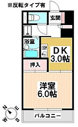 愛知県名古屋市南区本城町2丁目の賃貸マンションの間取り